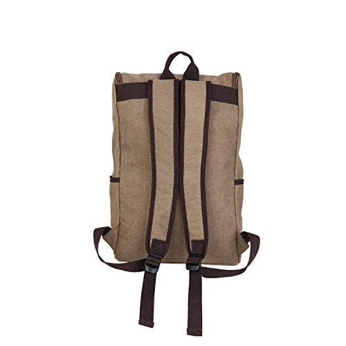 &ZHOU Segeltuchtasche, Canvas-Taschen, Umhängetaschen, Freizeit Taschen, Schulranzen, große Kapazität Mehrzweck-outdoor-Reisen Tasche retro Khaki
