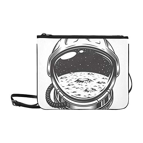 EIJODNL Sehr schönes und cooles Helmmuster Benutzerdefinierte hochwertige Nylon-dünne Clutch-Tasche Umhängetasche mit Umhängetasche -