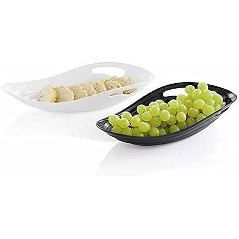Melamina Ciotola frutta & Vassoio per il pane nero 36x17x7 cm Dekoschale Ciotola Di Frutta
