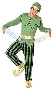 Atosa- Disfraz hombre duende, Color verde, M-L (18050)