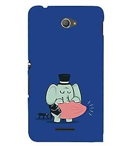 EPICCASE Funny elephant Mobile Back Case Cover For Sony Xperia E4 (Designer Case)