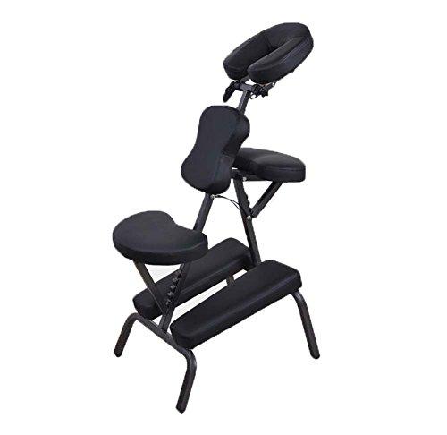 Tragbar Massagesessel Professionell Lederpolster Einstellbar Massage-Hocker Mit Tragetasche Für Kopfmassage Und Tattoo