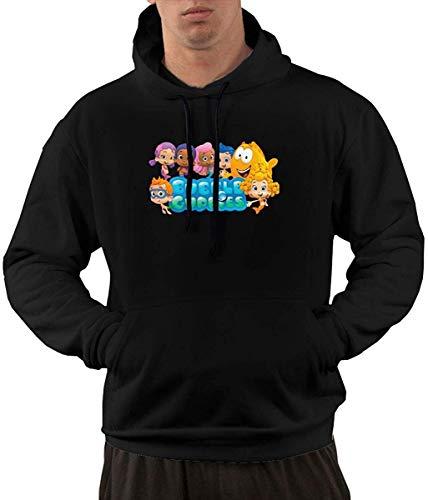 Men's Bubble Guppies Cartoon Warmth Hoodie with Pocket - Herren 80's Cartoon Kostüm