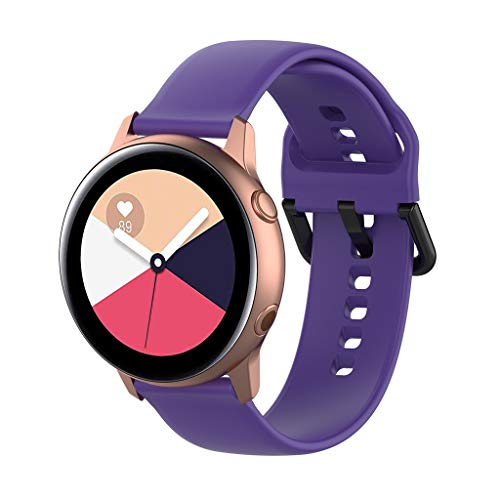SYY Armband Uhrenband,Wasserdicht Kratzfest Herren Damen Universal Armbänder Strap Band Ersatzarmband Uhrenarmband für Samsung Galaxy Watch Active r500 (Lila)