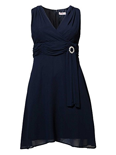 sheego Style Femmes Robe de soirée Grandes tailles bleu foncé