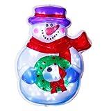 LED-Weihnachtsleuchter Schneemann