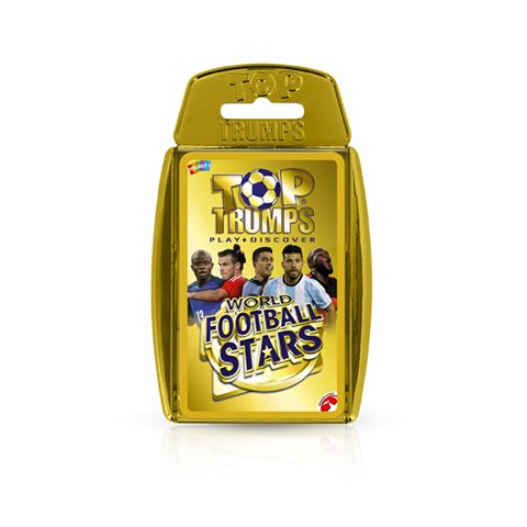 Top Trumps World Football Stars Kartenspiel, Goldfarbene Hülle
