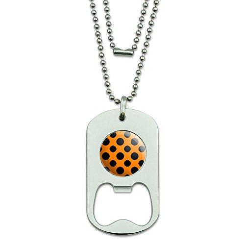 range Dog Tag Flaschenöffner (Orange Polka Dots)