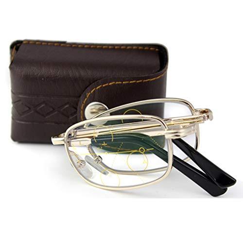 Multi Focus Lesebrille, einstellbares Sehvermögen mit multifokaler Dioptrien-Gleitsichtbrille Lentes HD Optical Eyewear, für Herren/Damen
