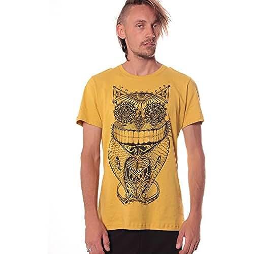 dia del orgullo friki Camiseta steampunk Búho - Ropa urbana divertida para salir de noche en algodón 100% para hombre