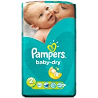 Pampers Baby Dry – Couches Taille 2 Essential Pack 60