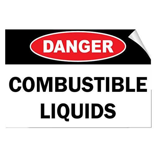 Label Decal Sticker Danger Combustible Liquids Hazard Flammable Durability Self Adhesive Decal Uv Protected & Weatherproof (Flammable Liquid-label)