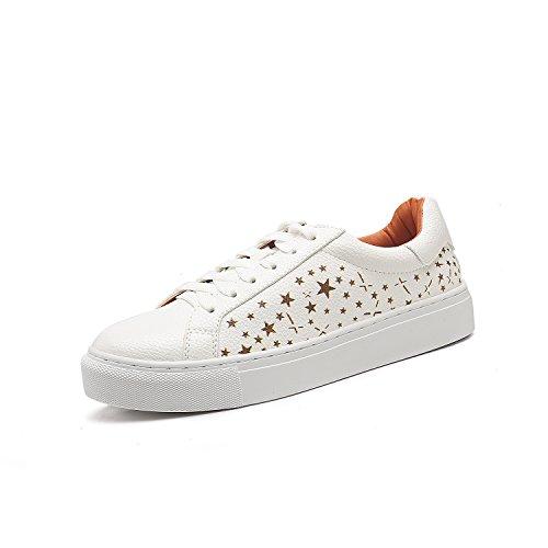 Shoemaker's heart Star di innalzare il livello di scarpa femminile Nuovo Anno Bianco invernale Winter fondo piatto Leisure Chalaza testa rotonda Forty