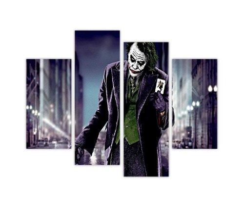 Druck auf Leinwand mit Abbildung von Joker aus Batman mit Spielkarten in einer dunklen Straße, XL, 90 x 71 cm