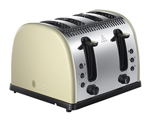 Russell Hobbs Legacy 4-Slice Toaster 21302 - Cream Best Price and Cheapest