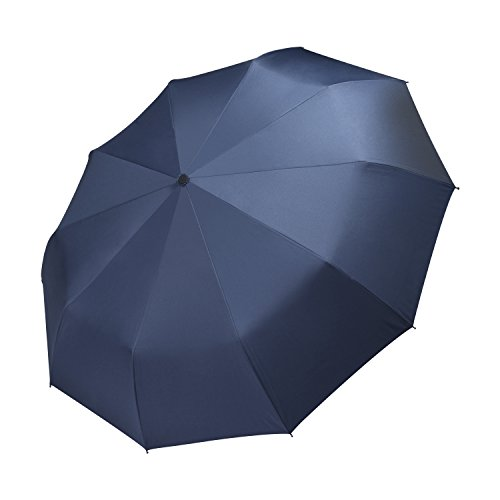 """Vanwalk viaggio Umbrella - """"Dupont Teflon"""" 10 rinforzato con resina vetroresina Ribs - Auto Open per chiudere, robusto, portatile e leggero per un facile trasporto, antivento (blu scuro)"""