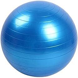Lunji - Pelota de ejercicio (45 cm) para fitness, antiquemaduras, PVC, equipo de ejercicio profesional, yoga, balón de equilibrio, azul