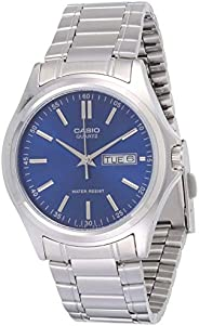 Casio Men's Blue Dial Stainless Steel Analog Watch - MTP-1239D-