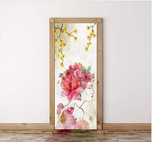 WENYAO wasserdichte Unterstützung Kinderzimmer Tür Aufkleber dekorative Malerei Selbstklebende Tür Aufkleber schöne Frauen dekorative Tür Aufkleber Kinderzimmer Explosion Modelle (Video-spiel Explosion Die)