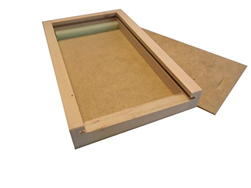 Holzschiebebox S, Holzbox für Buntstifte, Filzstifte und Pinsel LEER (passend für 8 Avantgarde...