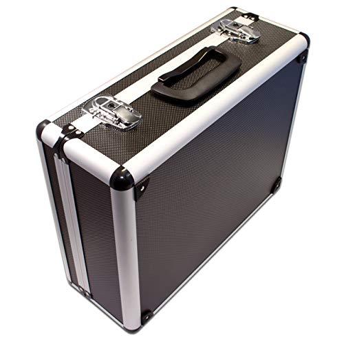 PeakTech 7300 - Universal Koffer für Messgeräte, Robuster Tragekoffer, Werkzeug Aufbewahrung, Würfelschaum Platten, Schaumstoff Polsterung, abschließbar, Staubschutz, M - 320 x 250 x 150 mm