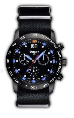 Traser H3 Classic Chrono Big Date Blue mit Nato-Armband