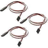 Price comparsion for 3 x RC 450mm Servo Extension Wire Cable Lead Futaba / JR / Hitec / Sanwa