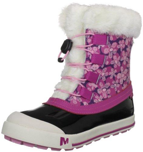 Merrell Spruzzi Wtpf Kids, Pluie et neige mixte enfant Rose (wineberry)