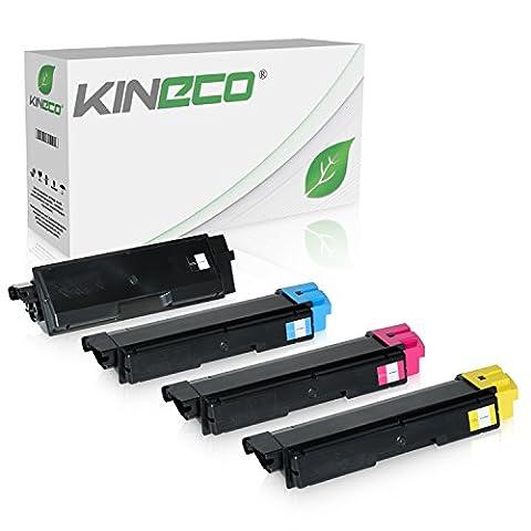 4 Toner kompatibel zu Kyocera TK-590 TK590 für Kyocera Ecosys M6526cdn, Ecosys M6526cdn, FS-C2026MFP, FS-C2126, FS-C2626MFP - Schwarz 7.000 Seiten, Color je 5.000 Seiten