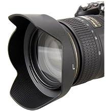 Maxsimafoto–Compatible parasol para objetivo Nikon HB-53–AF-S NIKKOR 24–120mm f/4G ED VR