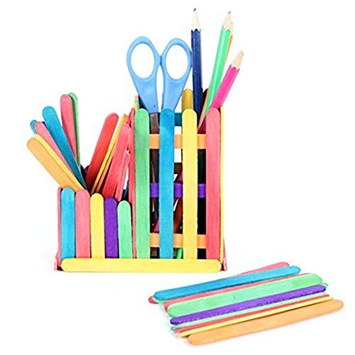 Características:  50 piezas de madera de color Lollipop palos para Crafts  muchos proyectos se pueden hacer usando Lollipop Sticks  crear un montón de modelos o construir objetos 3D no conveniente para el polo de hielo - Die se desprenderá de la  pal...