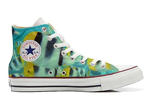 Converse Customized Adulte - chaussures coutume (produit artisanal) poissons colorés