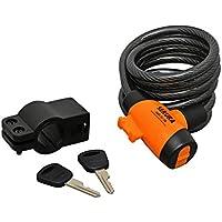 Büchel de Sekura–Candado de Cable en Espiral KB 202,–Candado para Bicicleta, Color Negro, 60500202