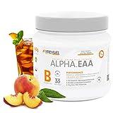 ALPHA.EAA   Premium EAA Pulver   Alle 8 essentiellen Aminosäuren   Erfrischend & Leicht   Top Löslichkeit und sensationeller Geschmack   Made in Germany   462g - ICE TEA PEACH (Eistee Pfirsich)
