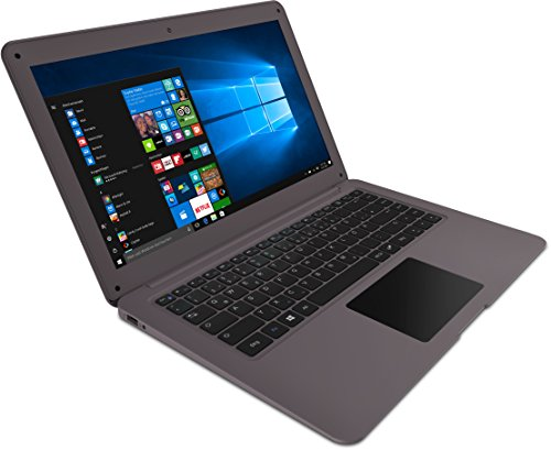 Trekstor 35,8 cm (14,1 pollici) Notebook (Intel Atom, Win 10 Home) Grigio 64 GB