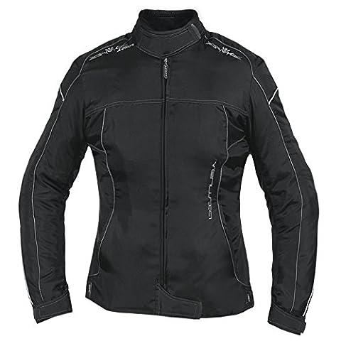 Veste Blouson Femme Moto Nylon Oxford Gilet Thermique Protections noir