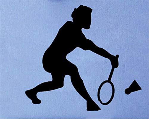 Wandtattoo Kinderzimmer Wandtattoo Wohnzimmer Ankunft Sport Wandbild Kunst Tennis Badminton Spieler für Jungen Schlafzimmer Wohnzimmer