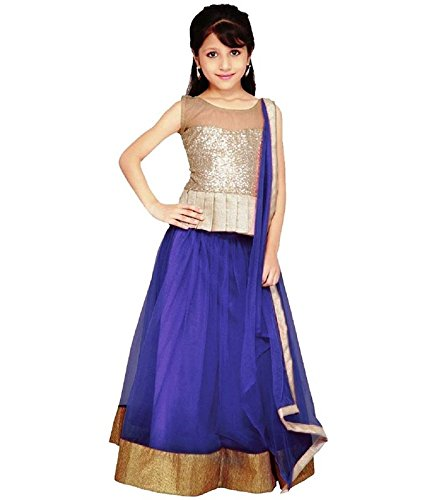 Shiroya Brothers Color Net Traditional Kids Wear Lehenga Choli for Girls Party Wear(SB_Lehengha_91)  available at amazon for Rs.249