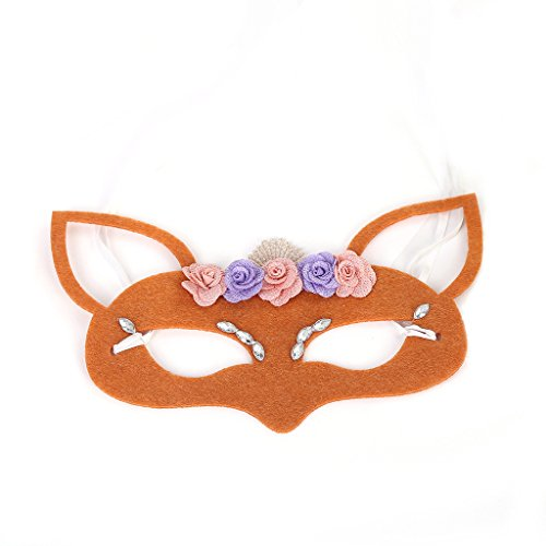 Sexy Maskerade Maske Venezianischen Karneval Filz Tuch Halbe Gesichtsmaske Mysterious Make Up Eyeshade Maske ( Color : Orange , Size : One Size ) ()
