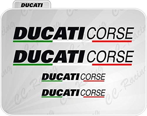 4 Aufkleber Ducati Corse Seite 848 Panigale 1199 1098 Weiß