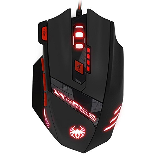 KingTop Gaming Maus für Pro Gamer 9200dpi mit 8 Tasten,LED,USB-Wired Maus optisch