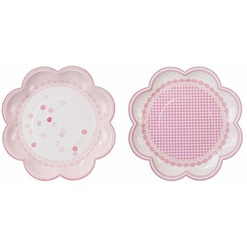 "talking-tables talking tables Pappteller ""Pink N Mix"" (8 Stk.) Jungen Mädchen"