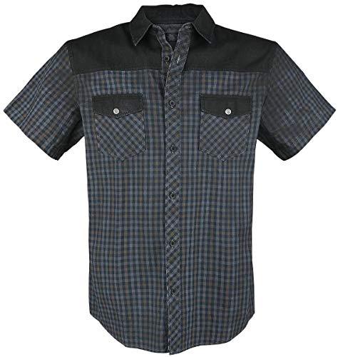 Rock Rebel by EMP Hard Decisions Camiseta Manga Corta Negro Rojo Blanco S 8b7ca153e35e