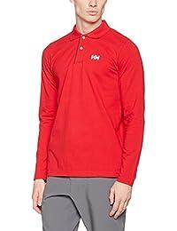 Helly Hansen CREW HH CLASSIC LS POLO - polo de mangalarga para Hombre, color Red, talla XL
