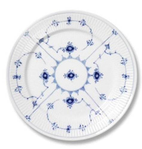 Blue Fluted Plain 10.75 Dinner Plate by Royal Copenhagen Royal Copenhagen Blue Fluted Plain