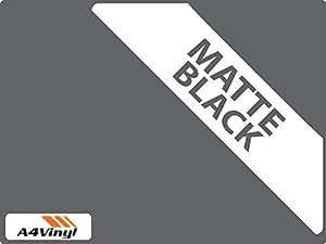 A4297x 210mm Noir Mat 1x feuille autocollant en vinyle, de haute qualité 5–210mm