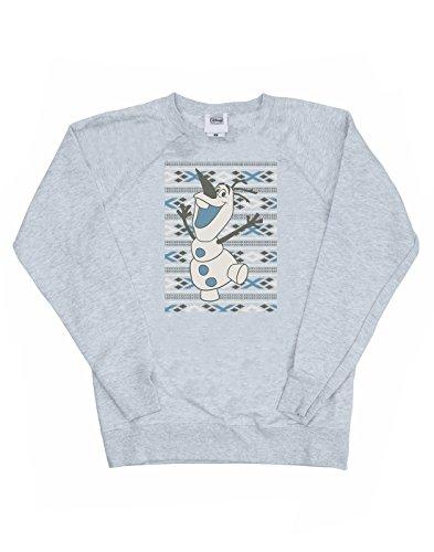 Disney Femme Frozen Christmas Olaf Smile Sweat-Shirt Heather Gris