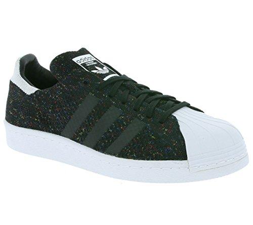 adidas Originals Superstar 80s Primeknit Hommes Baskets Noir S75844 Schwarz