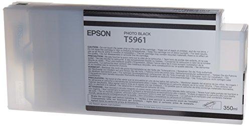 Epson T5961 C13T596100 - Cartouche d'encre d'origine - Noir photo (Photo Black) pour Stylus Pro - 350ml