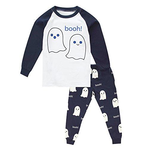 (BINIDUCKLING Halloween Geist Pyjama Schlafanzüge Set)
